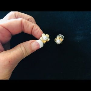 Matching gold and pearl set